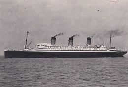 """Cpsm 10X15 PAQUEBOT Cie Gale Transatlantique.  Le  """" LIBERTE """" Ligne Le Havre- Angleterre-New York - Paquebots"""