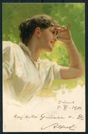 1901 Switzerland Beauty Glamour Postcard Zurich Fil. Bahnhof - Uznach - Storia Postale