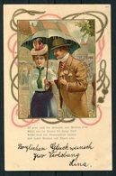 1902 Switzerland Romance Litho Postcard Zurich Fil. Bahnhof - Uznach - Storia Postale