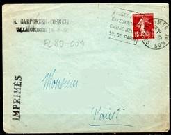 FL80-004 : Dept 80 (Somme) CAYEUX SUR MER 1930 > FG Daguin > Casino Jeux / 3H PARIS (CAY102) - Postmark Collection (Covers)