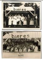 2 Photos C1945 & 1946 - Stands De Bières à Godinne - Gold Scotch / RAF Spéciale - Bière - 2 Scans - Autres Collections