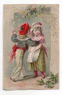"""Chromo--TOULON-Magasin De Lingerie--"""" Au Petit Paris""""---dessin , Enfants  --chromo Papier - Autres"""