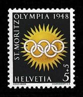 SWITZERLAND 1948 Winter Olympic Games, St Moritz: Single Stamp UM/MNH - Svizzera