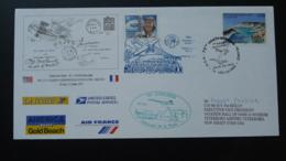 Lettre Transportée Par Concorde 70 Ans Liaison Aéropostale France USA 14 Ver Sur Mer Calvados 1997 - Concorde