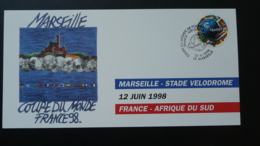 Coupe Du Monde Football World Cup France South Africa Carte FDC Card Marseille 1998 - 1998 – Francia