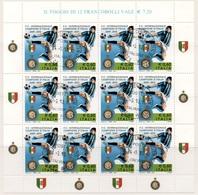 """Italia - Repubblica 2010 """"Inter Campione D'Italia 2009-2010"""" Usato Di Favore In Foglietto - 6. 1946-.. Repubblica"""