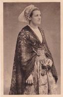 1920'S CPA FOLK DRESSED- FEMME DE DOUARNENEZ ET AUDIERNE. COIFFE A CORNETTES DES FETES. COLLECTION VILLARD- BLEUP - Costumes