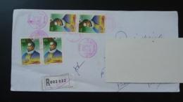 Miguel De Cervantes Lettre Recommandée Registered Cover Algérie Ref 118 - Algeria (1962-...)
