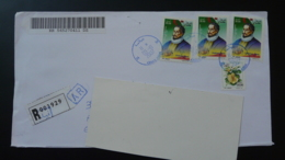 Miguel De Cervantes Lettre Recommandée Registered Cover Algérie Ref 122 - Algeria (1962-...)