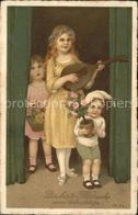 11765457 Mandoline Kinder Zipfelmuetze Geburtstag Blumen Musik - Non Classificati