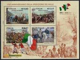 """Italia - Repubblica 2010 """"150º Anniversario Della Spedizione Dei Mille"""" Nuovo In Foglietto - 6. 1946-.. Repubblica"""