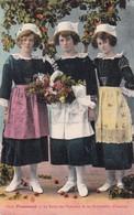 1937 CPA FOLK DRESSED-FOUESNAT. LA REINE DES POMMIERS ET SES DEMOISELLES D'HONNEUR. COLLECTION VILLARD. CIRCULEE - BLEUP - Costumes