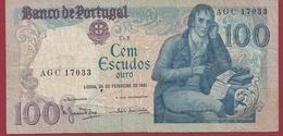 Portugal 100 Escudos Du 24/02/1981 (Sign#) Dans L 'état  (20) - Portugal