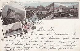 ARCO-TRENTO-UN SALUTO DA..CARTOLINA GRUSS AUS-VIAGGIATA NEL1896 - Trento