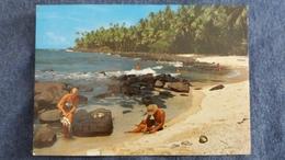 CPSM GUYANE FRANCAISE ILES DU SALUT PETITE PLAGE A L ILE SAINT JOSEPH 1980 DELABERGERIE 359 - Guyane