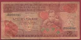 Ethiopie 10 Birr 1991 (Sign 3) Dans L 'état  (31) - Ethiopie