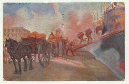CAGLIARI NEL PORTO ILLUSTRATA FIRMATA 1927  VIAGGIATA FP - Cagliari