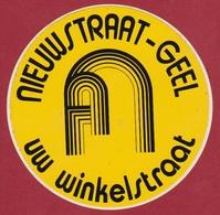 Sticker Autocollant Nieuwstraat Geel Shopping Uw Winkelstraat Antwerpse Kempen Aufkleber Adesivo - Stickers