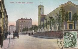 TRIESTE-CHIESA SAN GIACOMO-CARTOLINA VIAGGIATA  IL 28-1-1910 - Trieste (Triest)