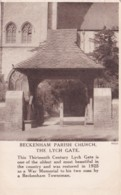 BECKENHAM PARISH CHURCH. THE LYCH GATE - England