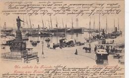 TRIESTE-PIAZZA GIUSEPPINA-CARTOLINA VIAGGIATA  IL 22-5-1900 - Trieste