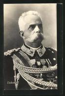 Cartolina Portrait Umberto I. Von Italien In Uniform Mit Orden - Koninklijke Families