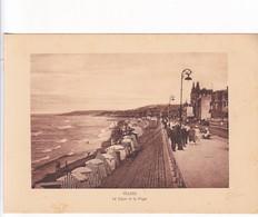 1920'S LAMINA SHEET REPRODUCCION- VILLERS. LA DIGUE ET LA PLAGE. SIZE 21X14.5 CM- BLEUP - Lugares