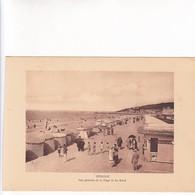 1920'S LAMINA SHEET REPRODUCCION- DEAUVILLE. VUE GENERALE DE LA PLAGE ET LES BAINS. SIZE 21X14.5 CM- BLEUP - Lugares
