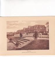 1920'S LAMINA SHEET REPRODUCCION- DEAUVILLE. BOULEVARD CORNUCHE ET NORMANDY HOTEL. SIZE 21X14.5 CM- BLEUP - Lugares