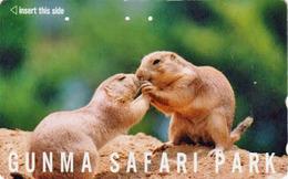 RARE Télécarte Japon / 110-011 - ANIMAL MARMOTTE ** Série GUNMA SAFARI PARK ** - MARMOT PRAIRIE DOG Japan Phonecard 195 - Jungle