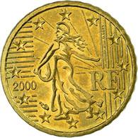 France, 10 Euro Cent, 2000, TTB, Laiton, Gadoury:4a, KM:1285 - France