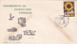 1967 FDC URUGUAY- MOVIMIENTO DE JUVENTUDES AGRARIAS - BLEUP - Agriculture
