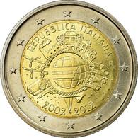 Italie, 2 Euro, 10 Ans De L'Euro, 2012, FDC, Bi-Metallic, KM:350 - Italy