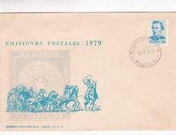 1979 FDC URUGUAY-  EMISIONES POSTALES DILIGENCIA 60 CENTAVOS- BLEUP - Uruguay