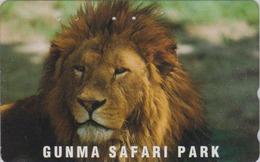 Télécarte Japon / 110-016 - ** Série GUNMA SAFARI PARK ** - ANIMAL LION FELIN - FELINE Japan Phonecard - 415 - Jungle