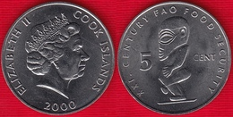 """Cook Islands 5 Cents 2000 """"21st Century Food Security"""" UNC - Cookinseln"""