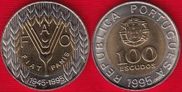 """Portugal 100 Escudos 1995 Km#678 """"50th Anniversary Of FAO"""" BiMetallic UNC - Portugal"""