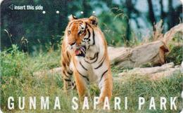 Télécarte Japon / 110-011 - ** Série GUNMA SAFARI PARK ** - ANIMAL TIGRE FELIN - TIGER FELINE Japan Phonecard - 416 - Jungle