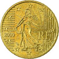 France, 50 Euro Cent, 2000, TTB, Laiton, Gadoury:6., KM:1287 - France