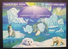 O) 2009 AZERBAIJAN,PROOF, PRESERVE THE POLAR REGIONS AND GLACIERS - PENGUIN. SEAL PAGO GROENLANDICUS - POLAR BEAR, MNH - Azerbaïjan