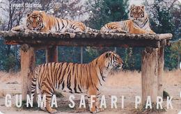 Télécarte Japon / 110-011 - ** Série GUNMA SAFARI PARK ** - ANIMAL TIGRE FELIN - TIGER FELINE Japan Phonecard - 418 - Jungle