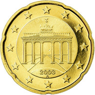 République Fédérale Allemande, 20 Euro Cent, 2003, Proof, FDC, Laiton, KM:211 - Germany
