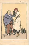 """LEROY Illustrateur """" Aux Munitions """" La Femme Et La Guerre Satirique, Humour - Guerre 1914-18"""