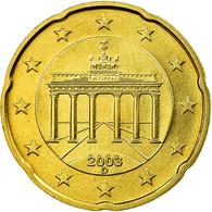 République Fédérale Allemande, 20 Euro Cent, 2003, FDC, Laiton, KM:211 - Germany