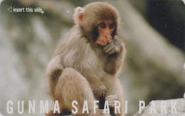 Télécarte Japon / 110-011 - ** Série GUNMA SAFARI PARK ** - ANIMAL  Bébé SINGE MACAQUE - MONKEY Japan Phonecard - BE 335 - Télécartes