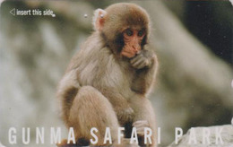 Télécarte Japon / 110-011 - ** Série GUNMA SAFARI PARK ** - ANIMAL  Bébé SINGE MACAQUE - MONKEY Japan Phonecard - BE 335 - Phonecards