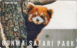 Télécarte Japon / 110-011 - ** Série GUNMA SAFARI PARK ** - ANIMAL LESSER PETIT PANDA ROUX - Japan Phonecard - 529 - Phonecards