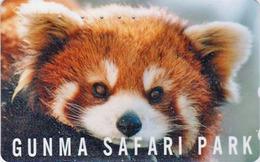 Télécarte Japon / 110-011 - ** Série GUNMA SAFARI PARK ** - ANIMAL LESSER PETIT PANDA ROUX - Japan Phonecard - 530 - Phonecards