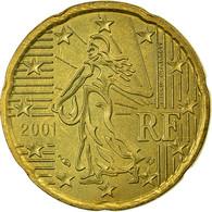 France, 20 Euro Cent, 2001, TTB, Laiton, KM:1286 - France