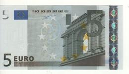 """5 EURO  """"M"""" Portugal  Firma Duisenberg  U 001 A3  / FDS - UNC - EURO"""